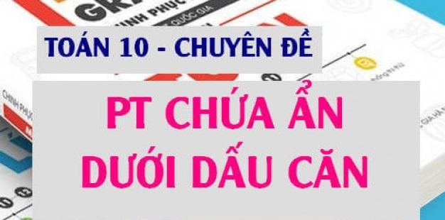 giai bat phuong trinh chua dau can