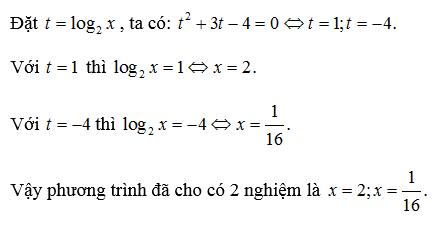 phuong trinh logarit bai tap 4