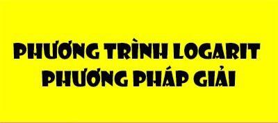 phuong trinh logarit